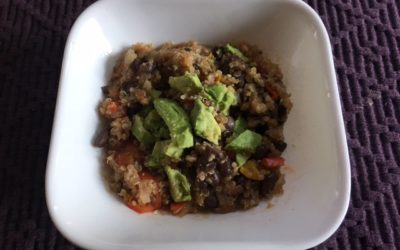 Vegan Slow Cooker Chili with Quinoa and Black Beans